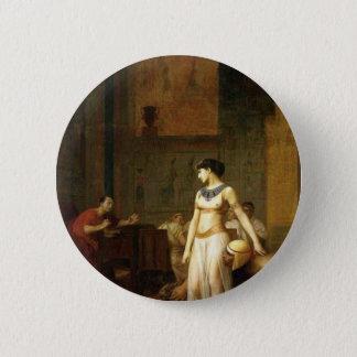 Cleopatra and Caesar 6 Cm Round Badge