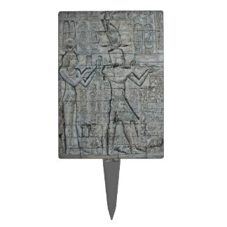 Cleopatra and Caesarion Rectangle Cake Topper