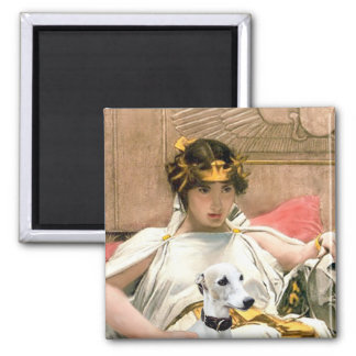 Cleopatra and White Whippet Magnet