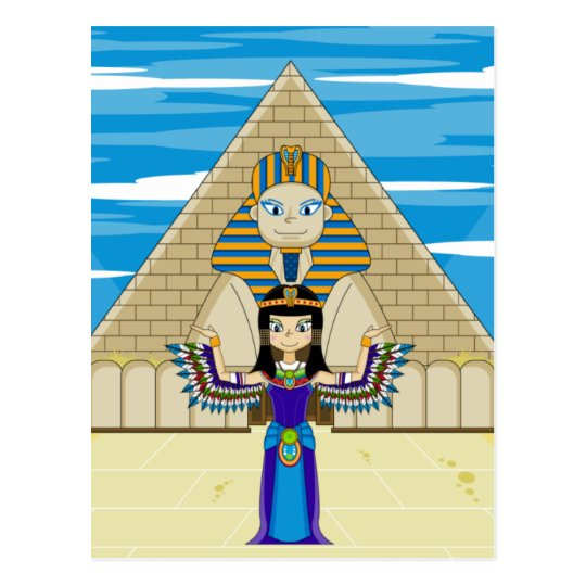 Cleopatra at the Great Sphinx Postcard