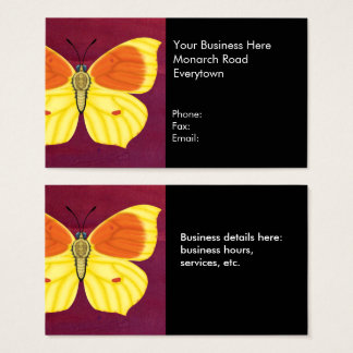 Cleopatra Butterfly Business Card