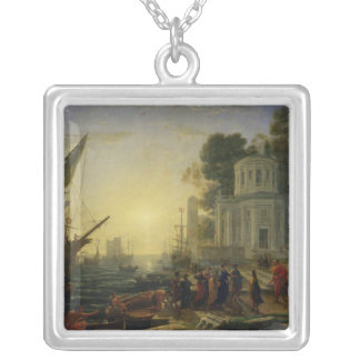 Cleopatra Disembarking at Tarsus, 1642 Silver Plated Necklace