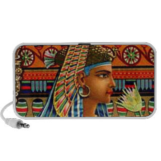 Cleopatra Egyptian Queen Antique Illustration Art Travelling Speakers