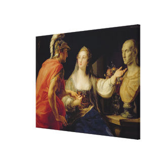 Cleopatra showing Octavius the bust of Julius Gallery Wrap Canvas
