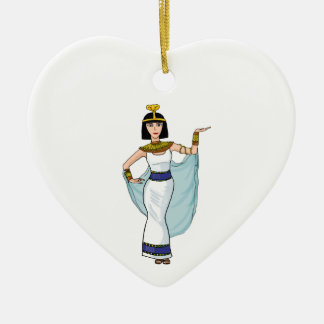 Cleopatra the Pharaoh of Egypt Ceramic Heart Decoration