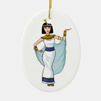 Cleopatra the Pharaoh of Egypt Ceramic Oval Decoration