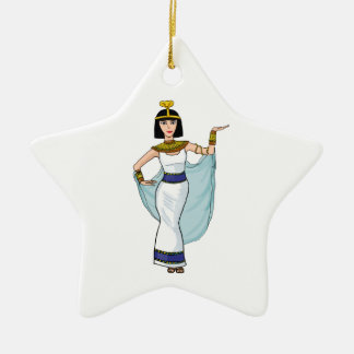 Cleopatra the Pharaoh of Egypt Ceramic Star Decoration