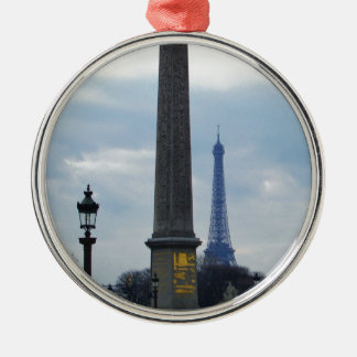 Cleopatra's Needle and Eiffel Tower Christmas Ornament