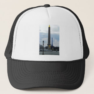 Cleopatra's Needle and Eiffel Tower Trucker Hat