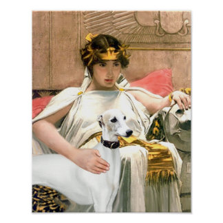 Cleopatra's Whippet (Famous art adaptation) Poster