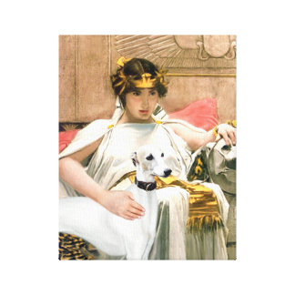 Cleopatra's Whippet (Famous art adaptation) Stretched Canvas Print