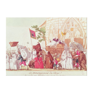 Clergy Leaving the Church after the Sale Canvas Print