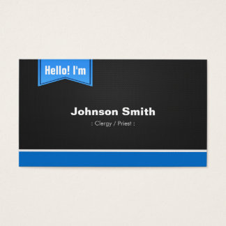 Clergy / Priest - Hello Contact Me Business Card