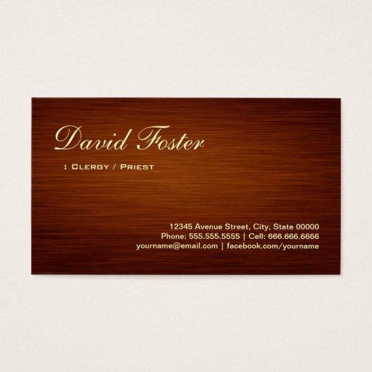 Clergy / Priest - Wood Grain Look Business