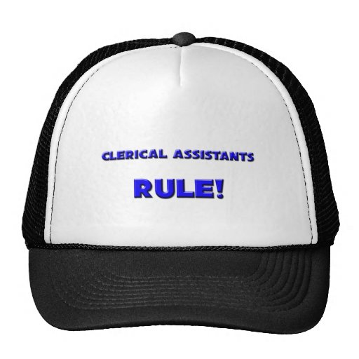 Clerical Assistants Rule! Hat