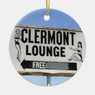 Clermont Lounge, Atlanta, Georgia, Merry Christmas Christmas Ornament