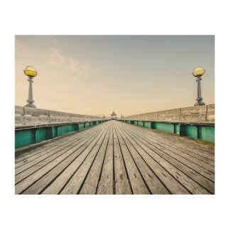 Clevedon Pier, North Somerset. Wood Wall Decor