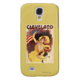 Cleveland Bicycles American Girl in Yellow Galaxy S4 Case