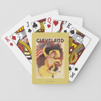Cleveland Bicycles American Girl in Yellow Playing Cards