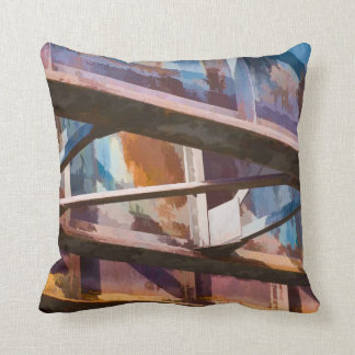 Cleveland Bridge Colors Throw Pillow
