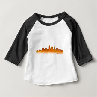 Cleveland City watercolor U.S. skyline Baby T-Shirt