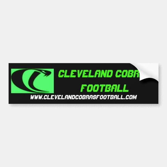 Cleveland Cobras Football Bumper Sticker