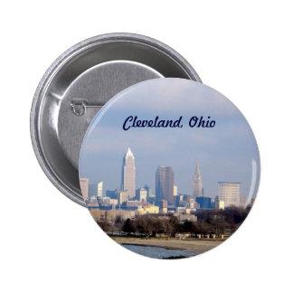 Cleveland (Edgewater)Button 6 Cm Round Badge