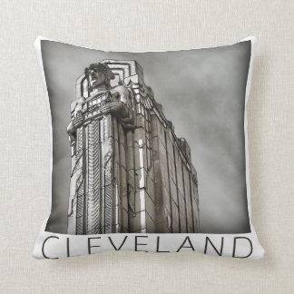 Cleveland - Guardian of Traffic Throw Pillow