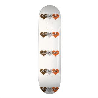 Cleveland Heart Skateboard Deck