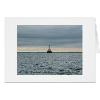 Cleveland Ledge Lighthouse Buzzards Bay MA Greeting Card