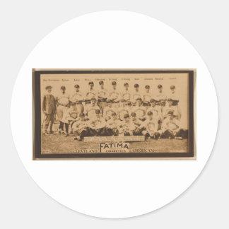 Cleveland Naps 1913 Round Sticker