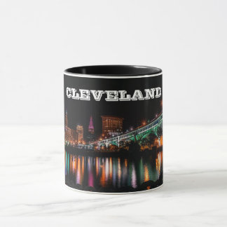 Cleveland Night Panorama Mug