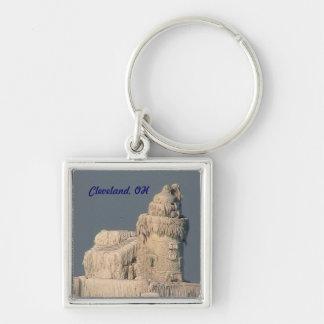 Cleveland OH Frozen Lighthouse Souvenir Keychain