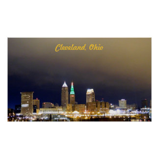 Cleveland, OH Million Dollar View Poster (Green)