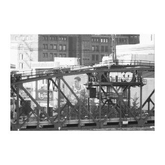 Cleveland OH TKO Cityscape B/W Canvas Print
