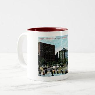 Cleveland, Ohio, 1907 View, Vintage Two-Tone Coffee Mug