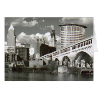 Cleveland Ohio Black and White Card