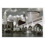 Cleveland Ohio Black and White Greeting Card