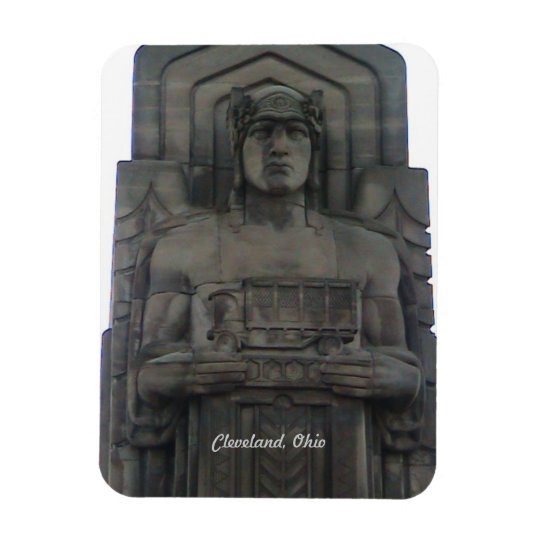 Cleveland Ohio  Bridge Guardian Magnet