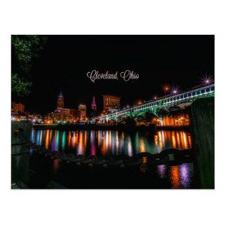 Cleveland, Ohio cityscape, labeled Postcard
