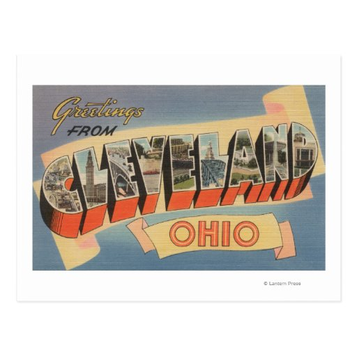 Cleveland, Ohio - Large Letter Scenes Post Cards