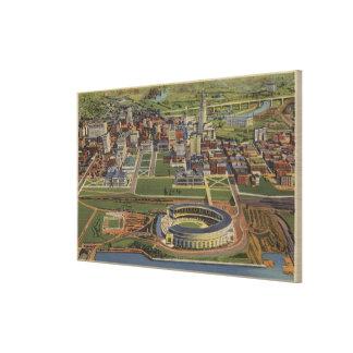 Cleveland, Ohio - Municipal Canvas Print