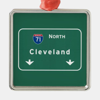 Cleveland Ohio oh Interstate Highway Freeway : Christmas Ornament