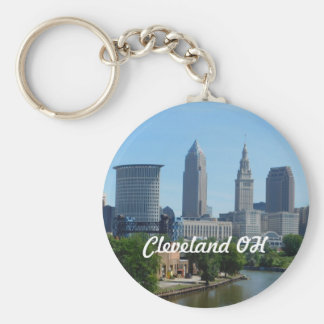 Cleveland, Ohio River View Keychain