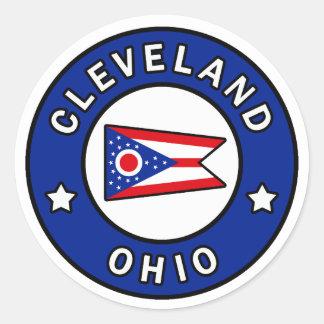 Cleveland Ohio Round Sticker