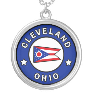 Cleveland Ohio Silver Plated Necklace