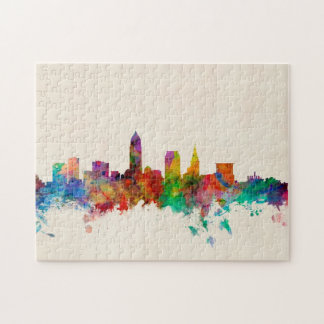 Cleveland Ohio Skyline Cityscape Jigsaw Puzzle