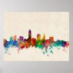Cleveland Ohio Skyline Cityscape Poster