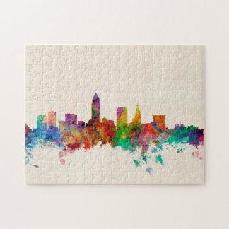 Cleveland Ohio Skyline Cityscape Puzzles
