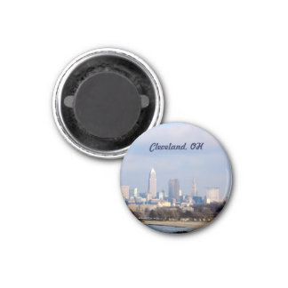 Cleveland, Ohio View (Edgewater)Magnet 3 Cm Round Magnet